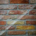 Nagyméretű szélső/külső vágott szeletelt bontott tégla - őszi/mediterrán