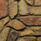 Tagolt szeletelt téglaburkolat, szélső szelet - őszi / mediterrán